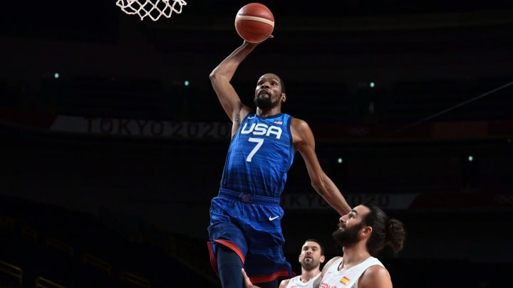 1628505855 The mens basketball team at the Tokyo Olympics
