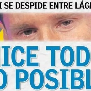 Messi on the cover of all newspapers