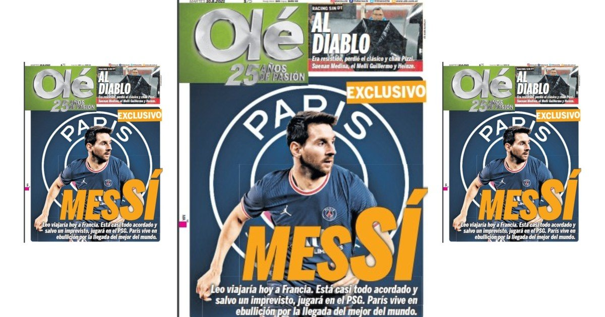 Exclusive Messi: almost total agreement and it will be from PSG