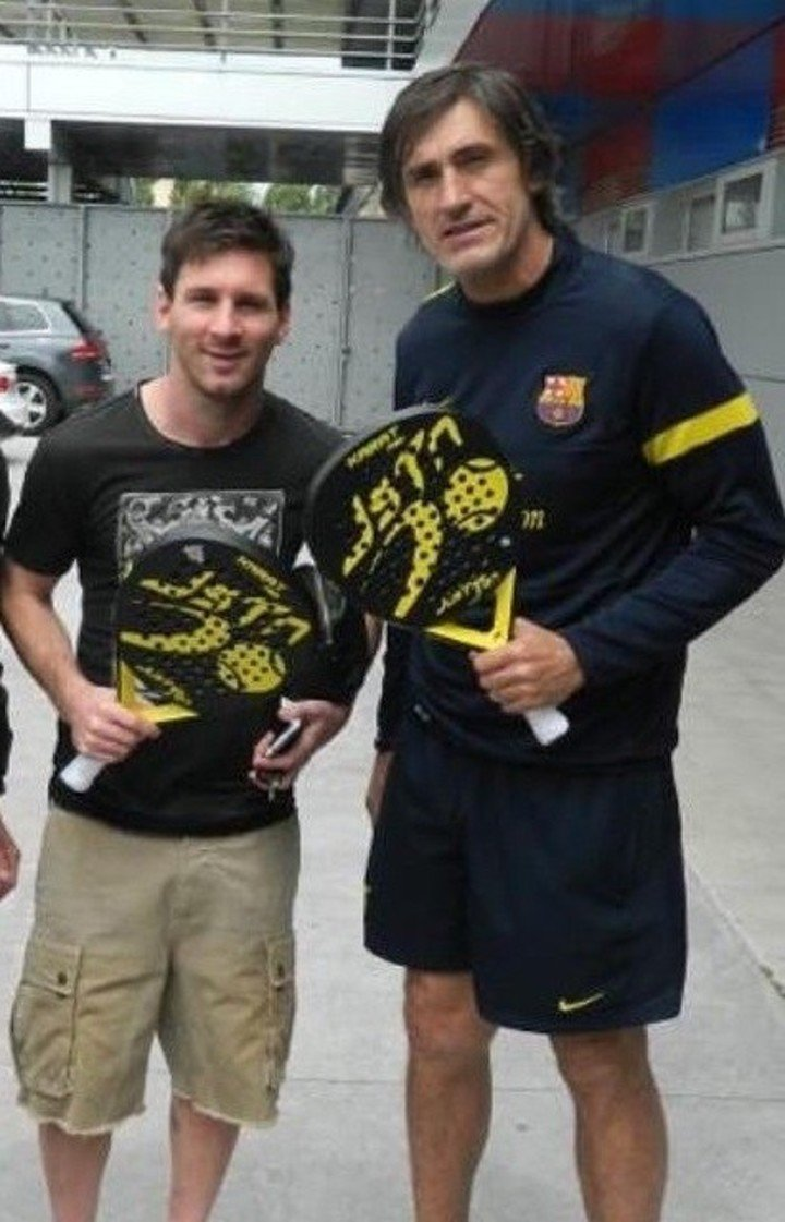 Lionel Messi and Pepe Costa, companions in everything.