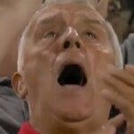 Brentford triumphed in the first division for the first time in 74 years and his face (and tears) say it all