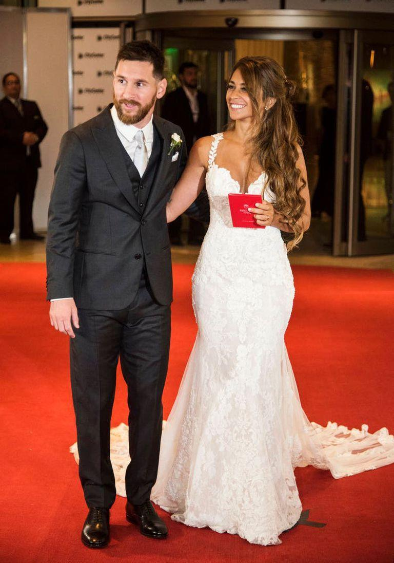 The day of the wedding of Messi and Antonela