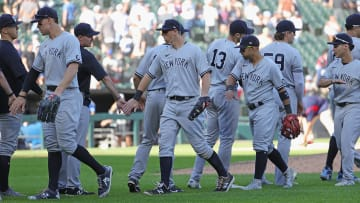 The Yankees come from winning the series in Chicago