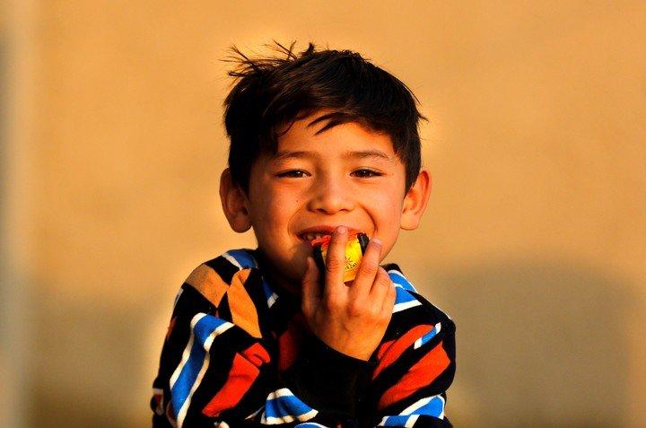 Déjà à Kaboul et avec sept ans.  Murtaza a dû quitter sa ville natale.  EFE