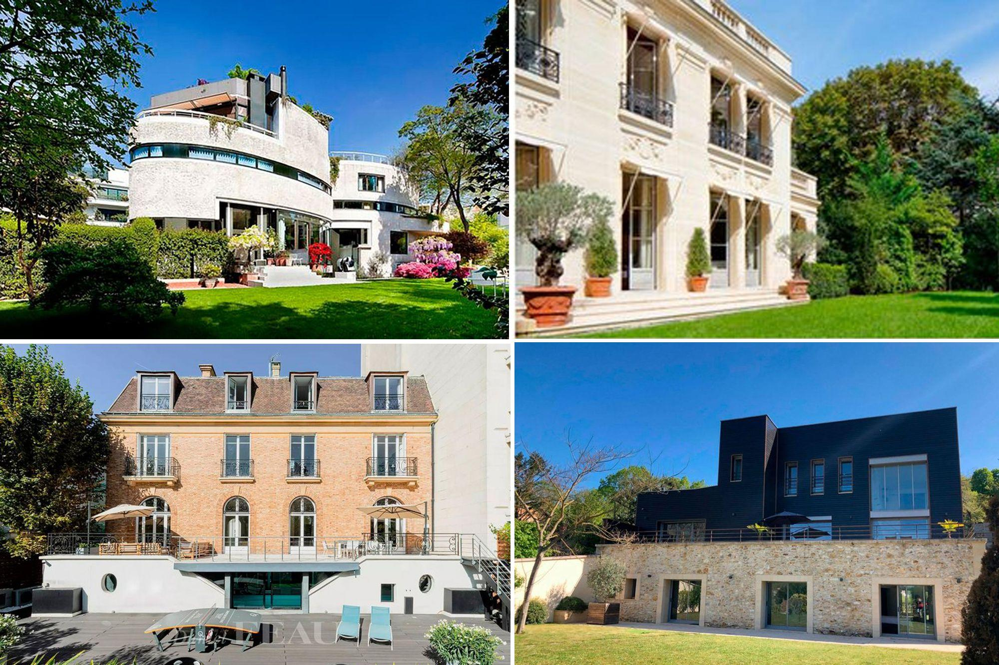 How are the four mansions offered to Lionel Messi and Antonela Roccuzzo in Paris