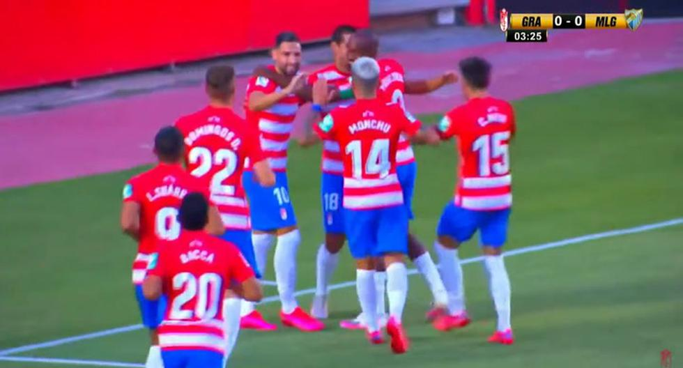 A big debut: Abram scored his first goal with Granada in a friendly against Malaga [VIDEO]