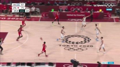 Argentina vs. Japan in basketball: alley oop de Vaulet