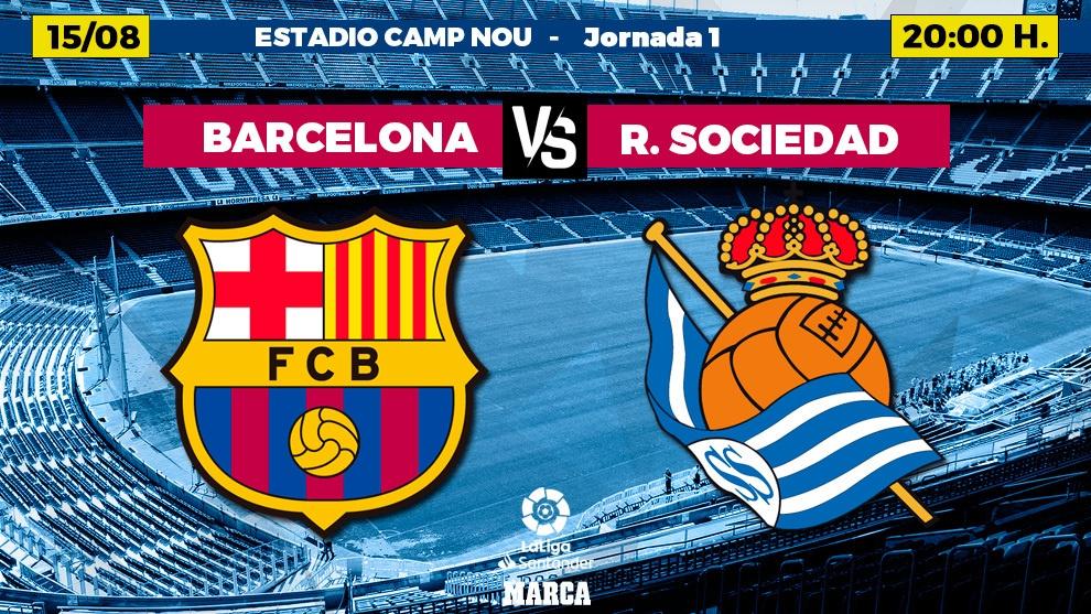 Barcelona Real Sociedad live The Santander League