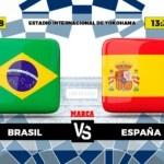 Brazil - Spain, live   Final Football Olympic Games Tokyo 2020   Brand