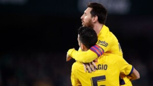 Busquets, the first to publicly say goodbye to Messi