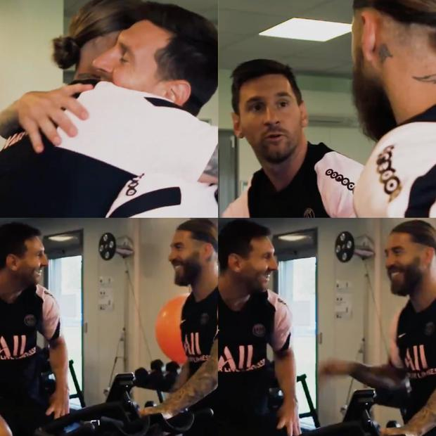 This was the meeting between Messi and Ramos. (Photo: PSG)