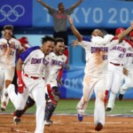 Dominican Republic: Close up of the elimination to contest the Olympic medal