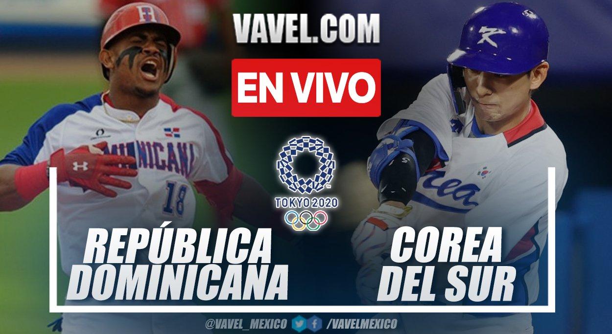 Dominican Republic vs South Korea LIVE 4 2 08062021
