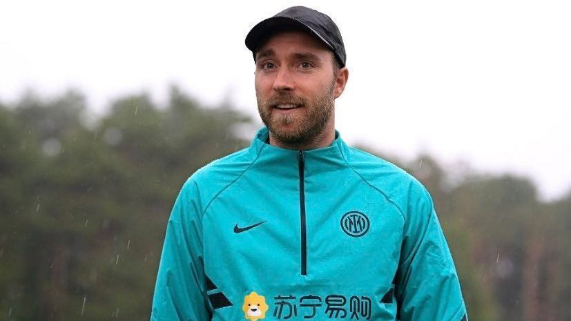 Eriksen returns to the Inter sports center to continue his
