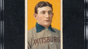 Honus Wagner card sells for a record $ 6.6 MM