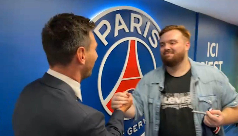 Messi, with Ibai Llanos
