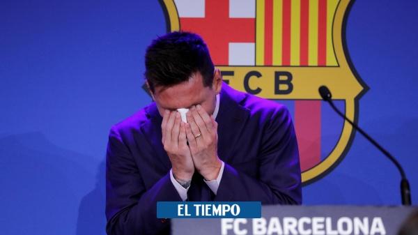 Lionel Messi breaks down in tears when he receives a