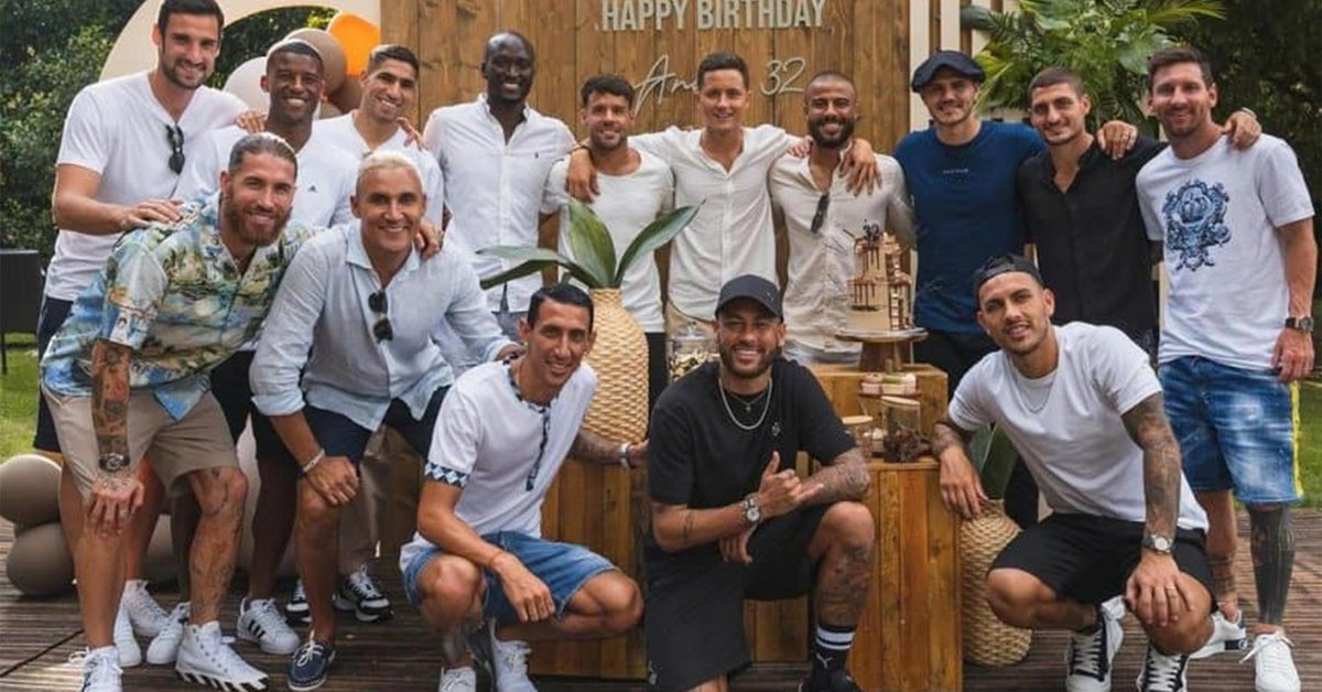 Lionel Messi participated in the birthday of one of the