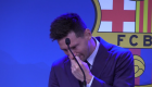 Messi breaks down in tears in his farewell to Barcelona