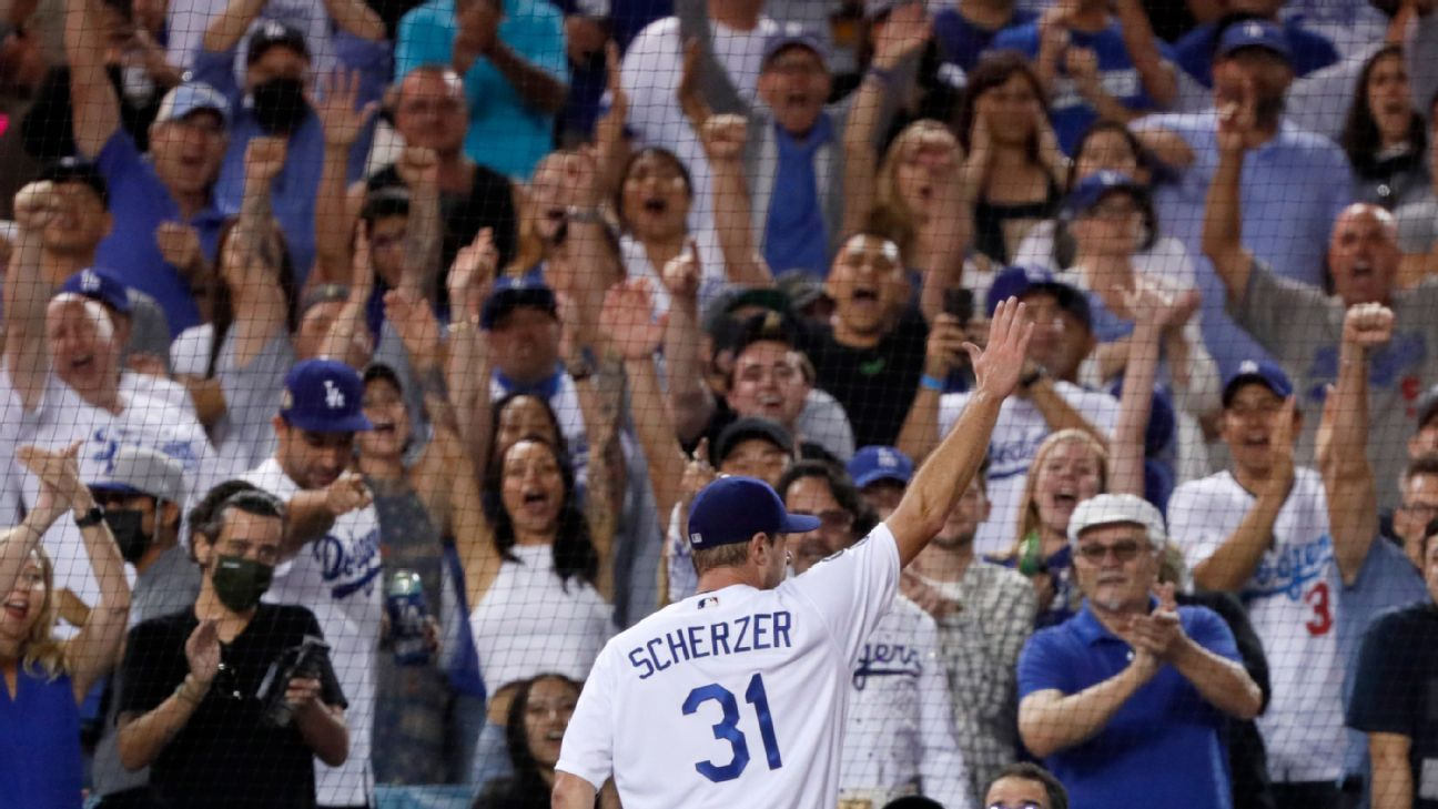 Max Scherzer delights Dodgers fans with 10 strikeouts to Astros
