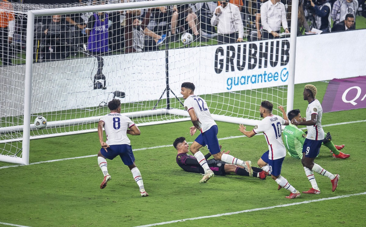 Mexico loses to the United States in the 2021 Gold