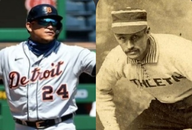 Miguel Cabrera equaled the record of the historic Harry Stovey