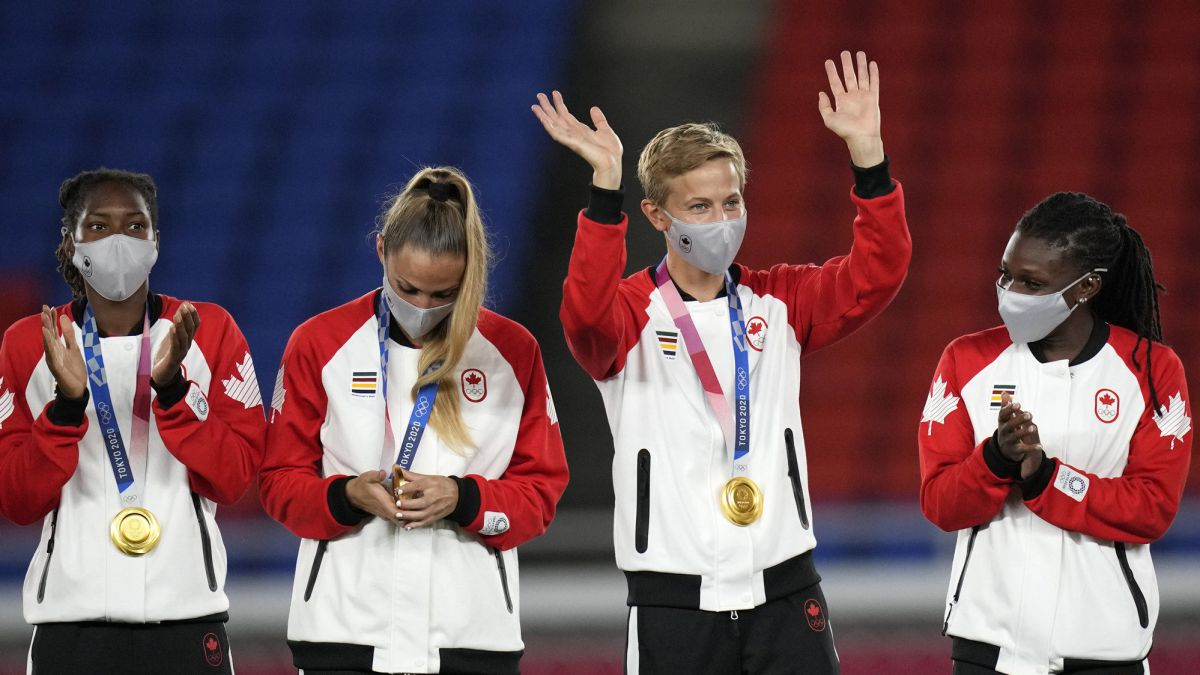 Quinn first transgender footballer to win gold at the Olympics