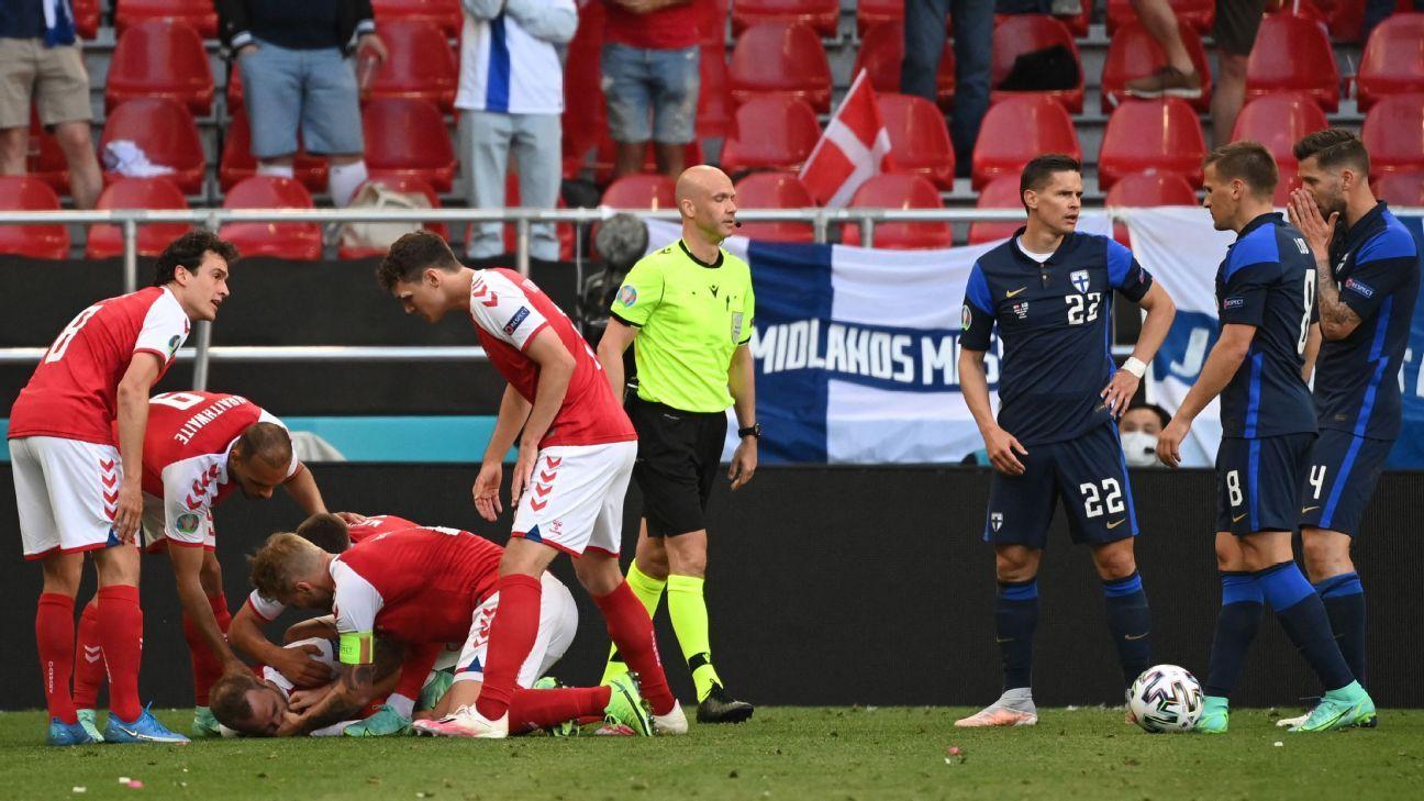 Referee reveals drama behind Eriksens Euro episode I was looking