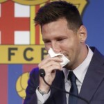 The crying and the tremendous shock of Messi in his farewell