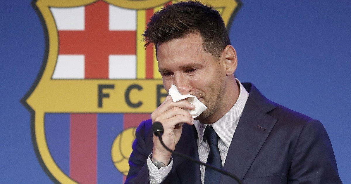 The crying and the tremendous shock of Messi in his