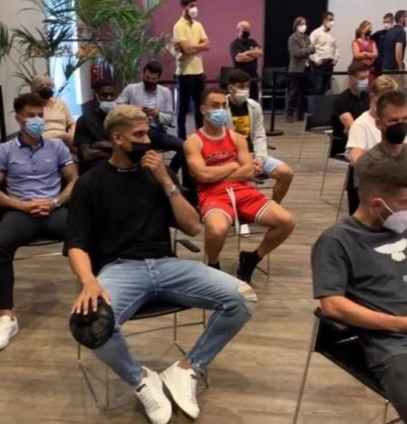 Dest, during Messi's press conference, not Jasikevicius's