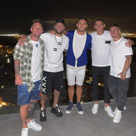 Messi, Neymar, Leandro Paredes, Di Maria and Verratti