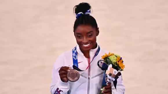 Tokyo-2020: Simone Biles wins Olympic bronze on the balance beam
