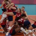 USA defeats Brazil, wins 1st gold in women's volleyball