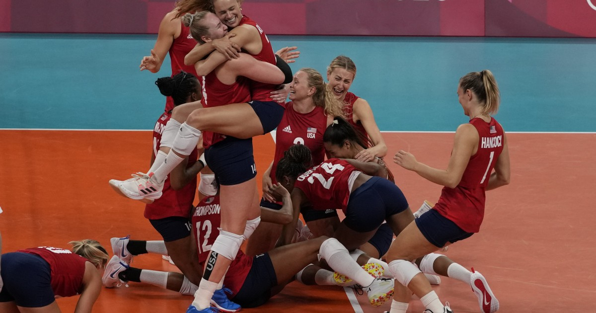 USA defeats Brazil wins 1st gold in womens volleyball