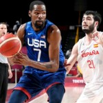 USA, to the basketball semifinals; eliminate Spain