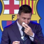 Uncontrollable: Messi burst into tears before starting his farewell conference [VIDEO]