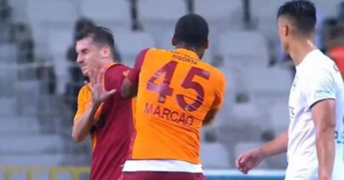 Unusual action in Turkish football a Galatasaray player was sent