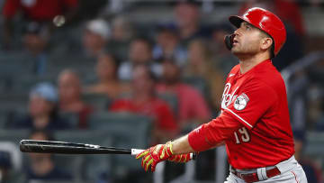 Joey Votto is one of the players who disputes the home run lead in the National League